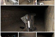 تصادف ,خبرلنده ,سقوط خودروی پراید, کانال, سیل بند ,تصادف ,درمانگاه ,لنده, نداشتن دیوار حفاظتی