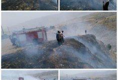 آتش سوزی,خبرلنده,سومین آتش سوزی در لنده,سهل انگاری,مزارع کشاورزی,جنگل های چکارد,اخبار لنده