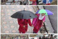 بارش باران,چهره شهر,شستشو,رحمت الهی شکر کشاورزان,شهرستان لنده,اولین باران پائیزی,اخبار لنده