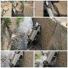 سقوط خودرو در کانال ,خبرلنده ,سیل بند لنده ,تصادف, نبود دیوار حفاظتی ,عدم توانایی راننده, بیمارستان امام خمینی(ره) ,لنده ,شهرداری